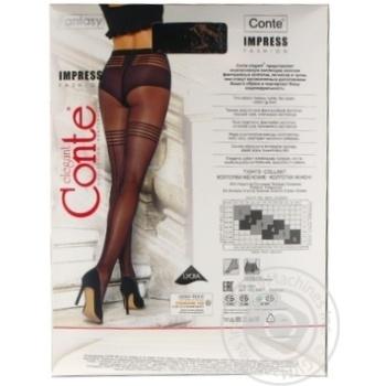 Колготки жіночі Conte Elegant Fantasy Impress 20 den розмір 4, nero - купити, ціни на Novus - фото 4