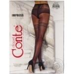 Колготки жіночі Conte Elegant Fantasy Impress 20 den розмір 3, nero - купить, цены на Novus - фото 1