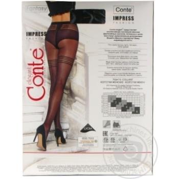 Колготки жіночі Conte Elegant Fantasy Impress 20 den розмір 3, nero - купить, цены на Novus - фото 4