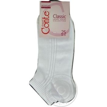 Шкарпетки жіночі бавовняні Conte elegant Сlassic короткі р.25 016 білий - купити, ціни на Novus - фото 4