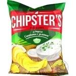 Чипсы Flint Chipster's картофельные со вкусом сметаны с зеленью 130г