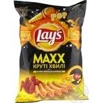 Чипсы Lay's Maxx со вкусом куриных крылышек барбекю 120г