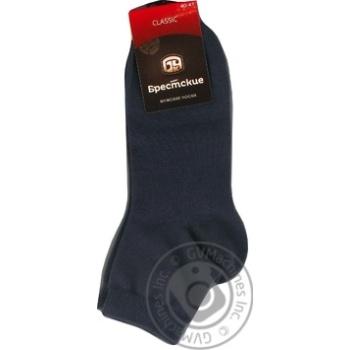 Носки мужские Брестские Сlassic укороченные хлопковые темно-серые размер 25 - купить, цены на СитиМаркет - фото 1