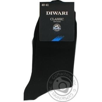 Шкарпетки чоловічі DiWaRi Classic 000 чорний р.25 пара - купити, ціни на Novus - фото 8