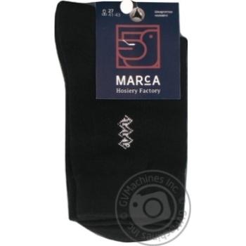 Шкарпетки чоловічі подвійний борт Marca Comfort розмір 27 арт.М103L - купить, цены на Novus - фото 1