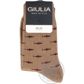 Шкарпетки чоловічі GIULIA MSL-009 calzino (2 р-ра), beige-39-42