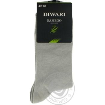 Носки мужские DiWaRi Bamboo 000 серый р.27 шт - купить, цены на Novus - фото 4
