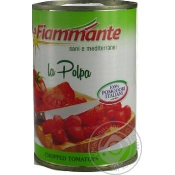 Томаты La Fiammante очищенные в собственном соку 400г - купить, цены на Novus - фото 1