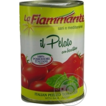 Vegetables tomato La fiammante with basil cleaned 400g