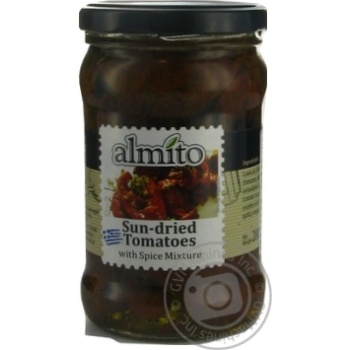 Vegetables tomato Almito with spices sun dried 280g glass jar