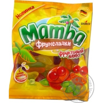 Цукерки жувальні Mamba Фрумеладки Фруктовий мікс 72г