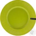 Тарелка Ambition керамическая подставная зеленая 27см