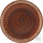 Тарелка Трипілля красная глина 28см