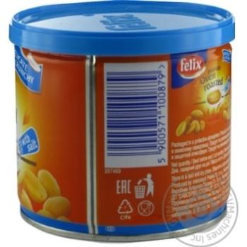 Арахіс Felix подвійного обсмаження в печі солоний 120г - купити, ціни на МегаМаркет - фото 2