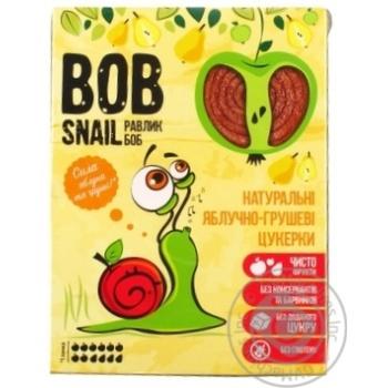 Конфеты Bob Snail яблочно-грушевые натуральные 120г