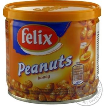 Арахіс Фелікс зі смаком меду 120г залізна банка Польща