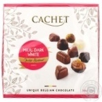 Cachet from milk, dark and chocolate candy 200g