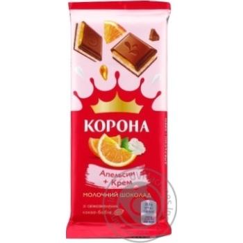 Шоколад Корона апельсин + крем молочный 85г - купить, цены на Novus - фото 1