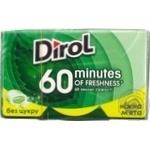 Жевательная резинка Dirol 60 minutes нежная мята 18г