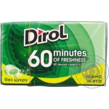 Скидка на Жевательная резинка Dirol 60 minutes нежная мята 18г