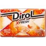 Жевательная резинка Dirol X-fresh мандариновая свежесть 18г