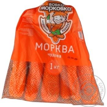 Морковь Вовка Морковка Чудова мытая 1000г