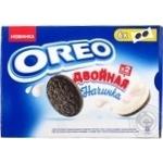 Печенье Oreo с какао и двойной начинкой с ванильным вкусом 170г