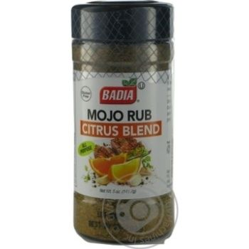 Приправа смесь цитрусовая Badia Mojo Rub 141,7г