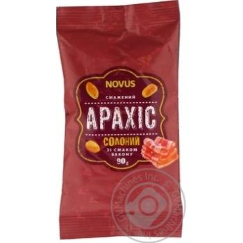 Арахіс смажений солоний зі смаком бекону Novus  90г