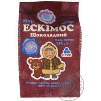 Мороженое Рудь Эскимос шоколадный пломбир 750г
