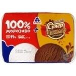 Морозиво Рудь: 100% морозиво + морозиво Супершоколад у лотку 500г - купити, ціни на МегаМаркет - фото 1