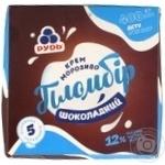 Мороженое Рудь Крем-пломбир шоколадный в картонной упаковке 400г