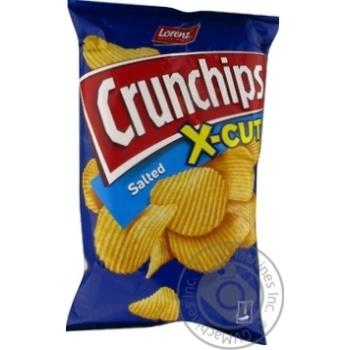 Чіпси картопляні з сіллю Crunchips x-cut 75г - купити, ціни на Novus - фото 1