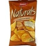 Чіпси картопляні Naturals зі смаженою цибулею Lorenz 100г