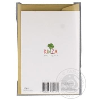 Открытка поздравительная Кинза J001 - купить, цены на Метро - фото 3