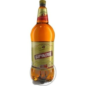 Pasteurized filtered lager Persha Pryvatna Brovarnya Bochkove 4.5%alc 2l