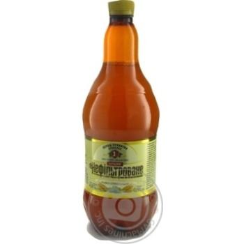 Скидка на Пиво Перша приватна броварня Бочковое нефильтрованное светлое 4,6% 0,9л