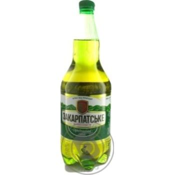 Пиво Перша приватна броварня Закарпатское Оригинальное светлое фильтрованное 4,4% 1,2л