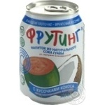 Non-alcoholic non-carbonated juice-containing drink with guava juice and coconut pieces Fruiting can 238ml