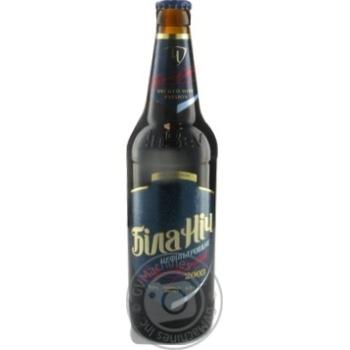 Chernigivske Bila Nich Unfiltered Dark Beer 0,5l glass
