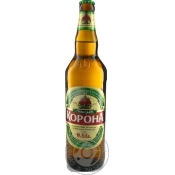 Пиво Галицкая Корона светлое фильтрованное пастеризованное 3.9%об. 650мл