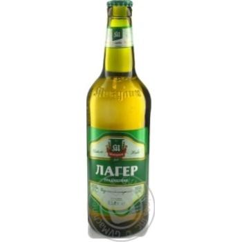 Пиво Микулинецьке Микулин Лагер живе світле непастеризоване 4.2%об. 500мл - купити, ціни на Novus - фото 1