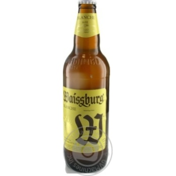 Beer Waissburg unfiltered 4.7% 500ml glass bottle