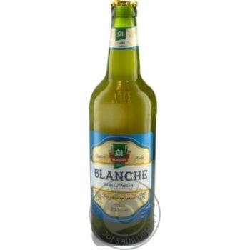 Пиво Микулин Бланш світле живе нефільтроване непастеризоване 4,5% 0,5л