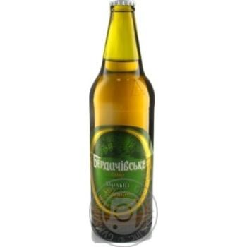 Пиво Бердичівське Хмільне живе світле непастеризоване 3.7%об. 500мл