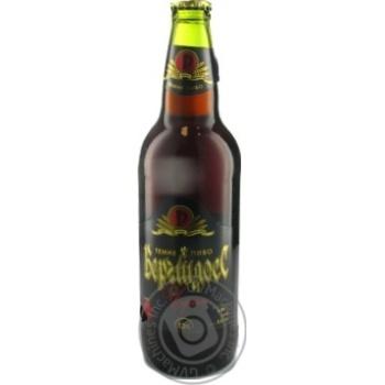 Пиво Ривень Бергшлосс Черный темное 4.5%об. стеклянная бутылка 500мл Украина