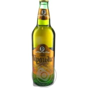 Пиво Ривэнь Пражское живое светлое непастеризованное стеклянная бутылка 4.3%об. 500мл Украина