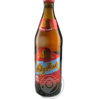 Пиво Ривень Жигулевское светлое стеклянная бутылка 4%об. 500мл Украина
