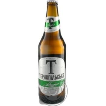 Пиво Тернопольское Lager светлое 4,3% 500мл