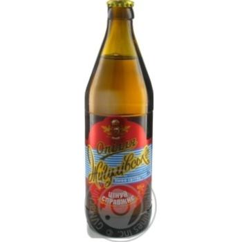 Beer Opillya Zhigulevskoe light 4% 500ml glass bottle Ukraine